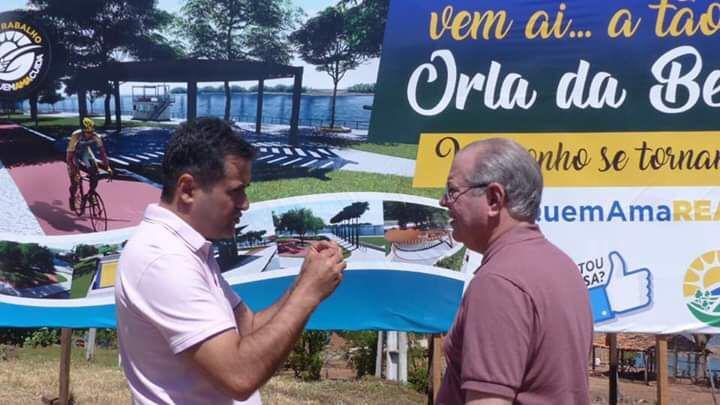 Hildo Rocha e prefeito Nelson Horácio visitam obras em Porto Franco