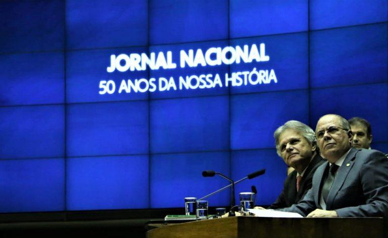 Sessão solene proposta por Hildo Rocha presta homenagem aos 50 anos do Jornal Nacional