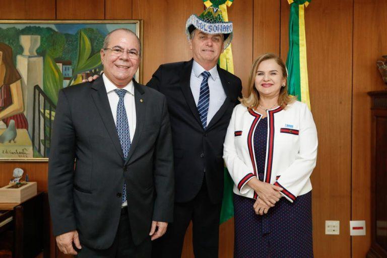 Hildo Rocha leva pleitos do Maranhão ao presidente Jair Bolsonaro