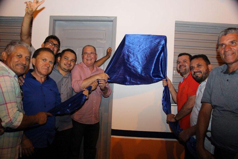 Hildo Rocha e prefeito Vagtônio Brandão inauguram balneário de Buritirana