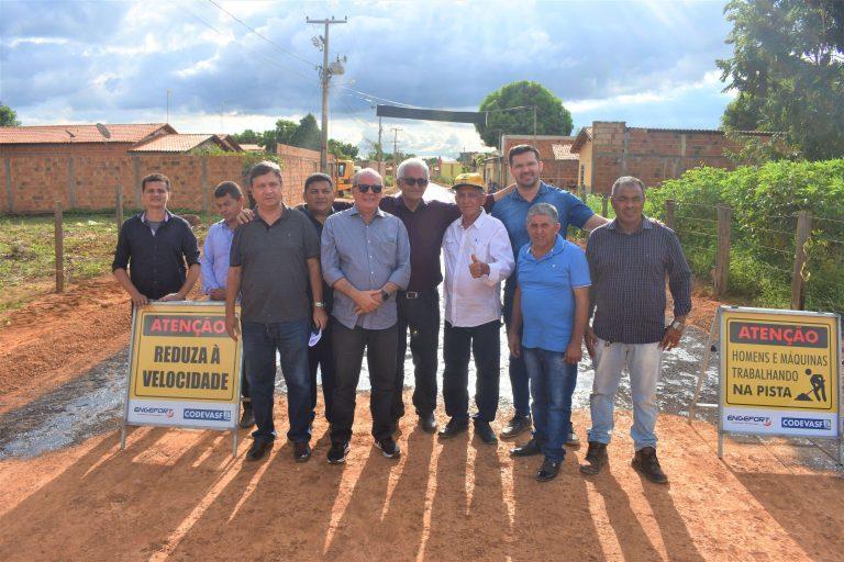 Iniciada a pavimentação asfáltica da Vila Tucum, em Grajaú, obra financiada com emenda do deputado Hildo Rocha