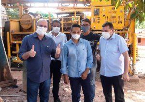 Deputado Hildo Rocha vistoria obra de construção do novo sistema de abastecimento de água em Buritirana.