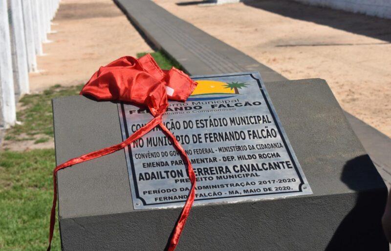 Hildo Rocha e Adailton Cavalcante inauguram est%C3%A1dio de futebol em Fernando Falc%C3%A3o 3 - INAUGURADO: Prefeito Adailton pediu e Hildo Rocha destinou recursos para construção de um estádio de futebol em Fernando Falcão