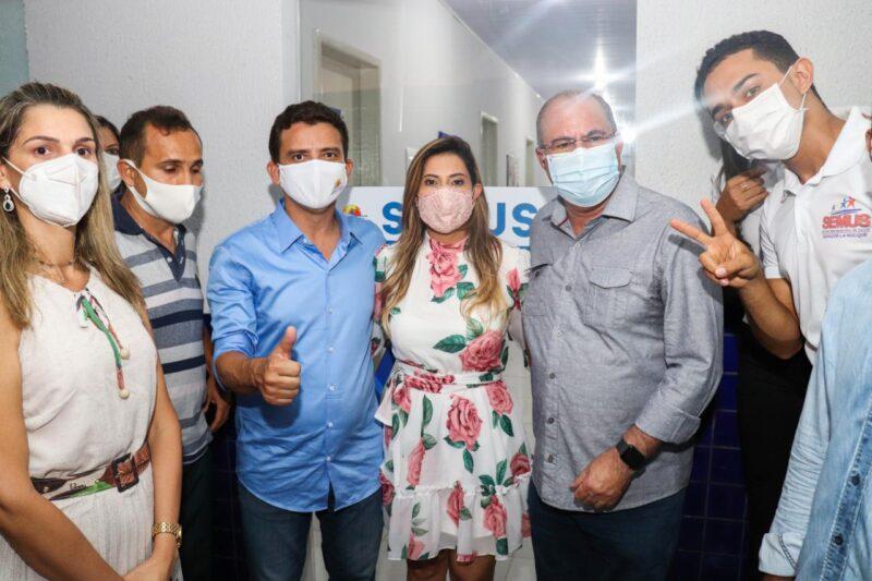FOTO 3 4 - Deputado Hildo Rocha e prefeito Dário Sampaio inauguram unidade de saúde, em Senador La Rocque - minuto barra