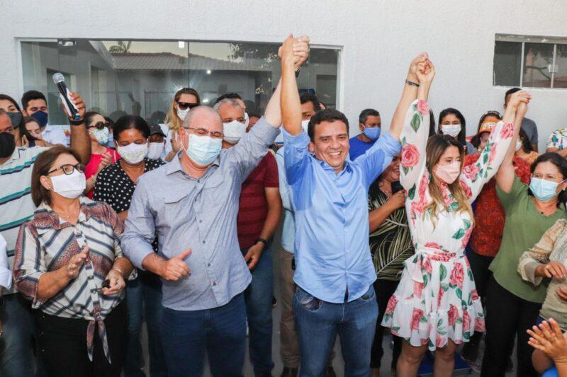 FOTO 4 4 - Deputado Hildo Rocha e prefeito Dário Sampaio inauguram unidade de saúde, em Senador La Rocque - minuto barra