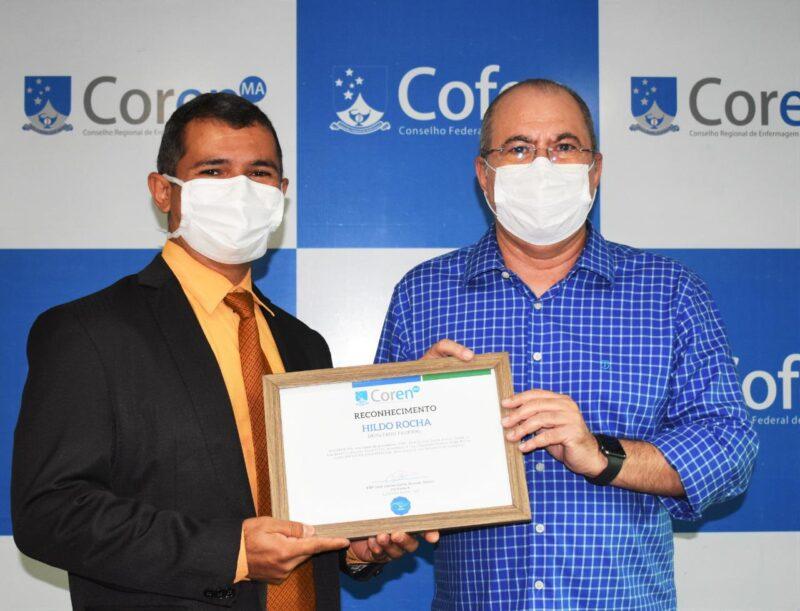 Coren homenageia deputado Hildo Rocha com t%C3%ADtulo de Amigo da Enfermagem 2 - Coren homenageia deputado Hildo Rocha com título de Amigo da Enfermagem