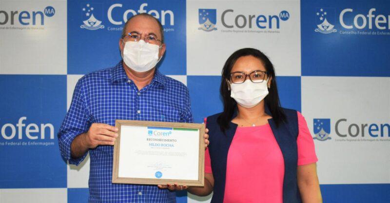 Coren homenageia deputado Hildo Rocha com t%C3%ADtulo de Amigo da Enfermagem 3 - Coren homenageia deputado Hildo Rocha com título de Amigo da Enfermagem