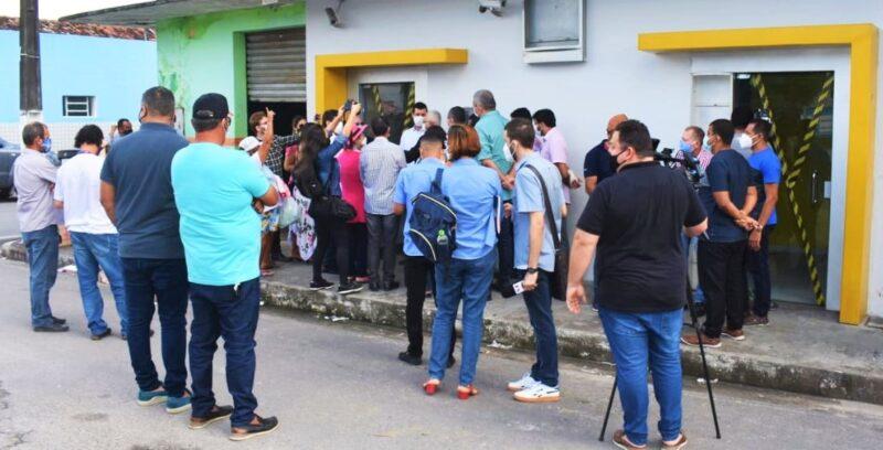Agência do Banco do Brasil que foi fechada, no município de Maribondo (Alagoas)