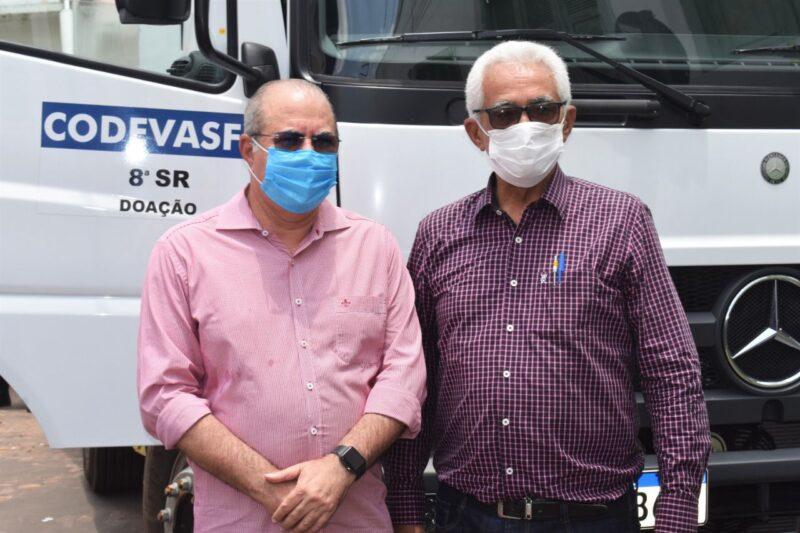 Hildo Rocha entrega caminhao compactador de lixo para prefeitura de Grajau 2 - Hildo Rocha entrega caminhão compactador de lixo para prefeitura de Grajaú