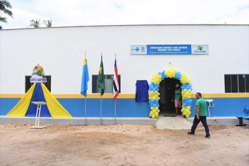 Hildo Rocha viabilizou recursos para reforma e modernizacao de UBS em Santa Quiteria 2 - Hildo Rocha viabilizou recursos para reforma e modernização de unidade de saúde entregue pela prefeita Sâmia Moreira, em Santa Quitéria